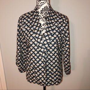 Black xhilaration patterned blazer Large